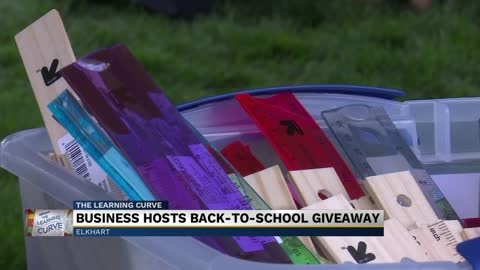 Business hosts back-to-school giveaway