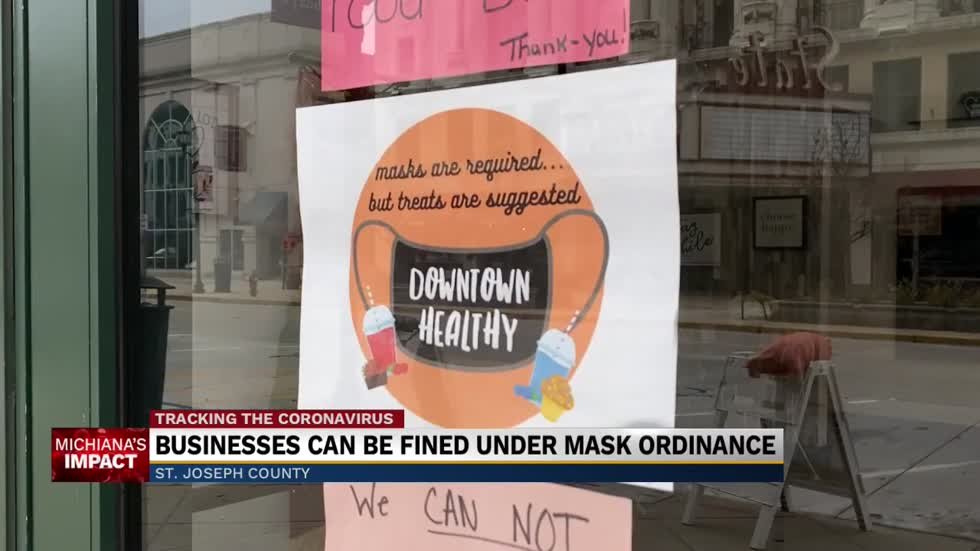 Businesses can be fined under mask ordinance