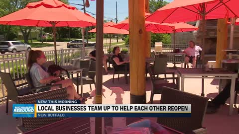 Local businesses team up to help each other re-open