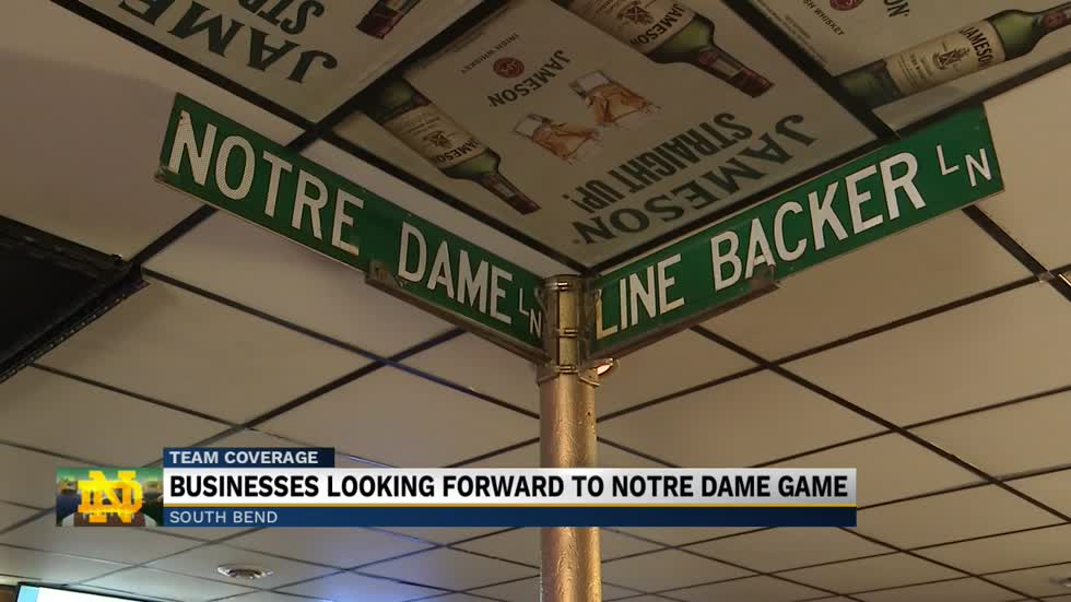 Businesses looking forward to Notre Dame game
