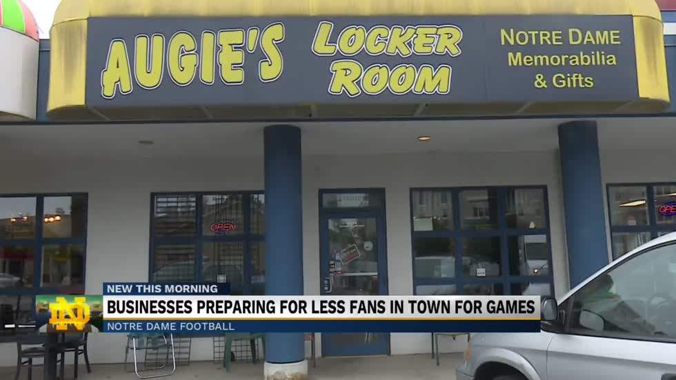 Businesses prepare for less fans in town for football games