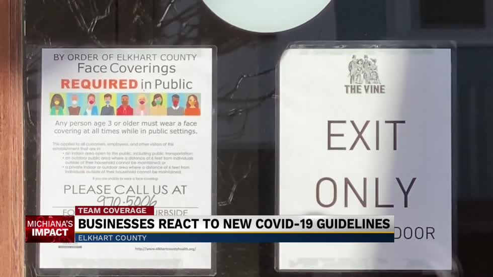 Elkhart County businesses react to new Covid-19 response plan