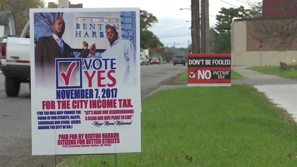 Campaign over proposed income tax in Benton Harbor heats up
