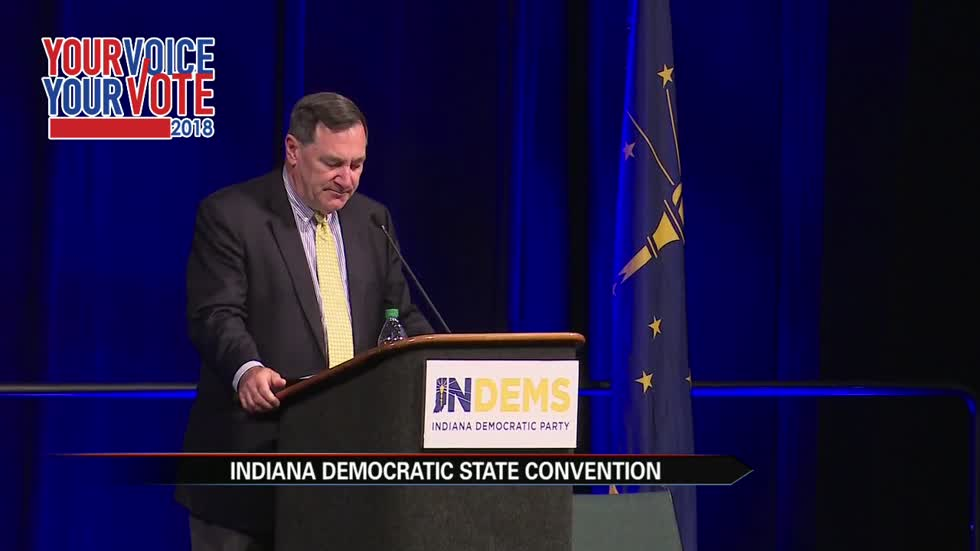 Candidates campaign at Indiana Democratic Party's state convention
