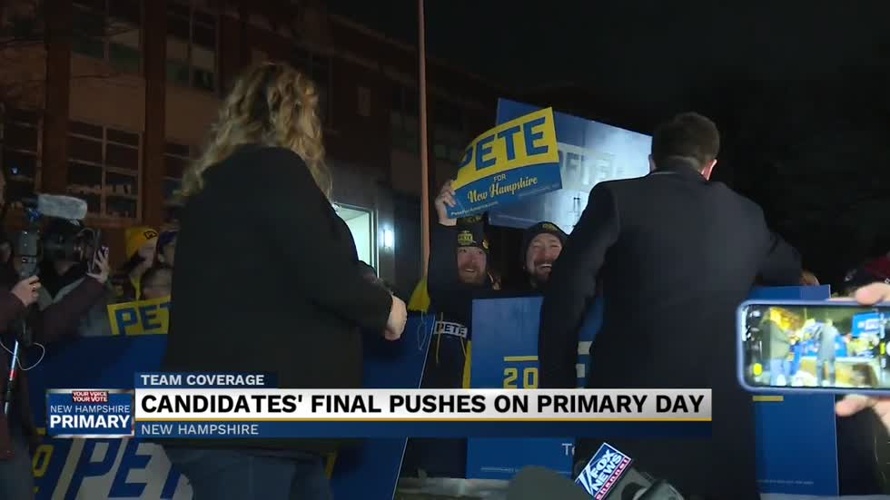 Candidates visit polling locations in last minute pitch to voters