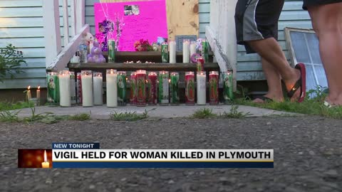 Family of Plymouth murder victim holds candle light vigil