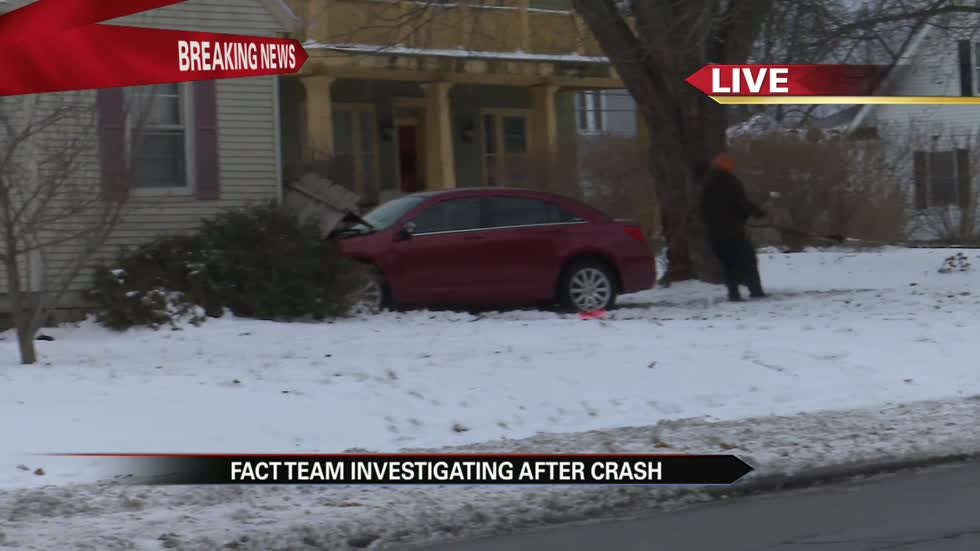 Car crashes into house near Mishawaka High School, FACT investigating