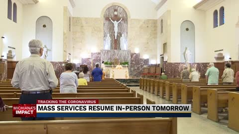 Catholic Mass services resume with some changes