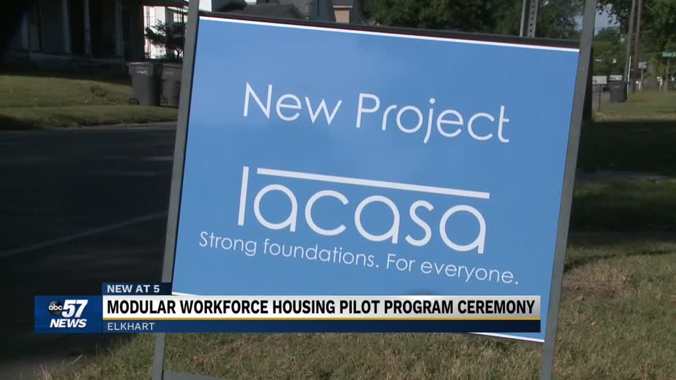 Ceremony held for a new housing program in Elkhart