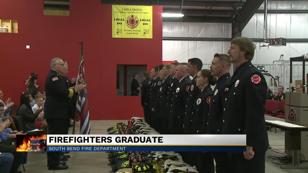 Graduation ceremony held for South Bend fire recruits