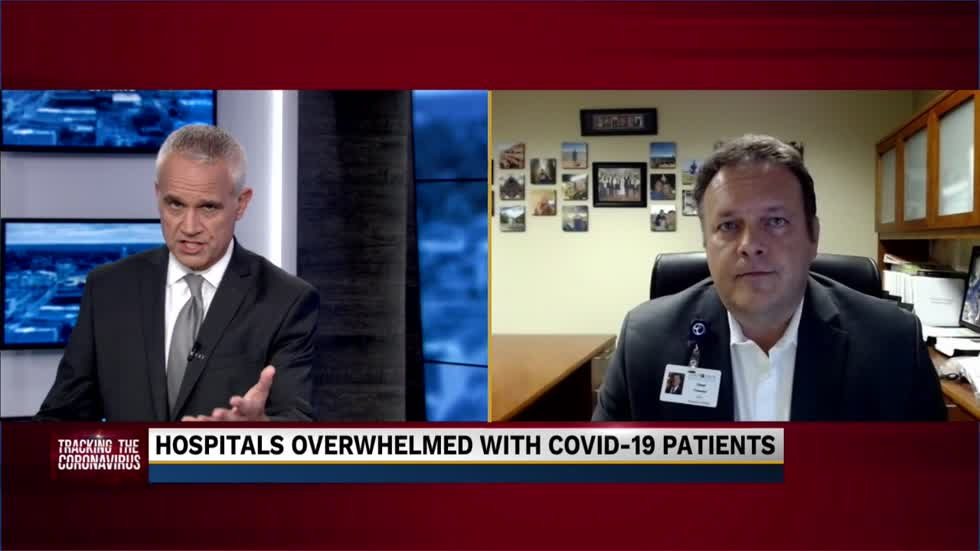 Chad Towner discusses issues that local hospitals are facing during COVID-19 surge