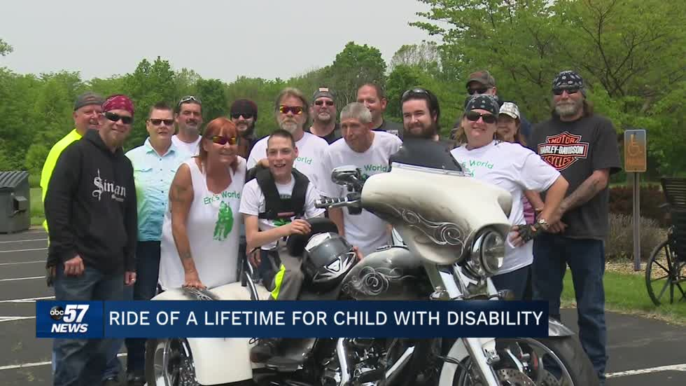 Charity bike ride held for Elkhart teen with cerebral palsy