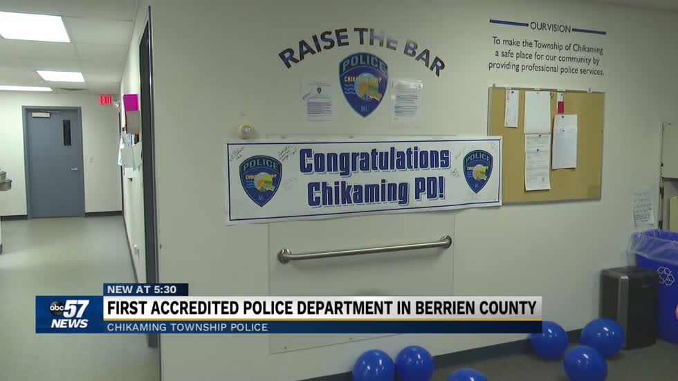 Chikaming Township Police Department is the first state accredited...
