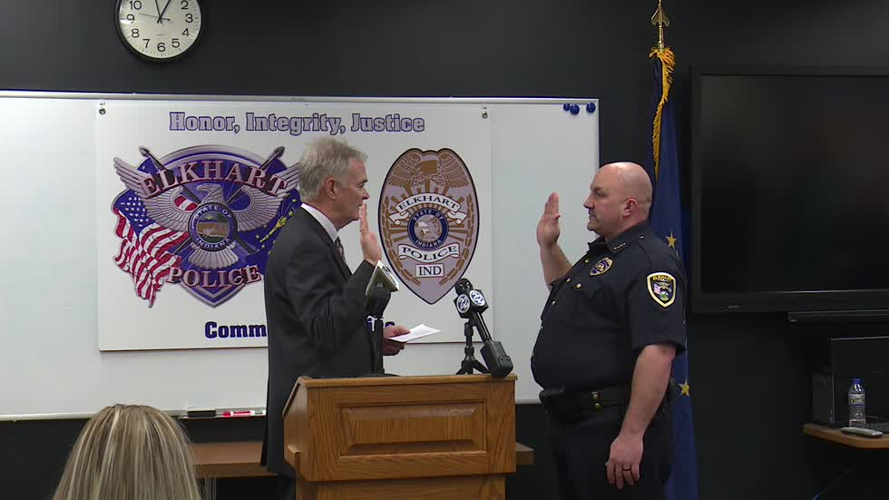 Chris Snyder sworn in as Elkhart's new chief of police
