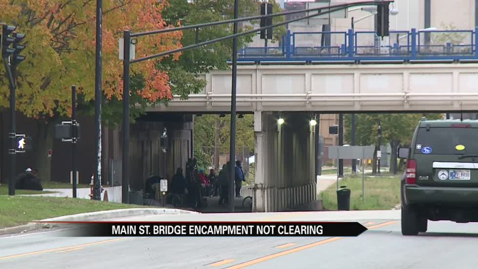 City issues statement about homeless living under bridge