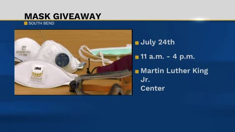 City of South Bend giving away masks on Friday