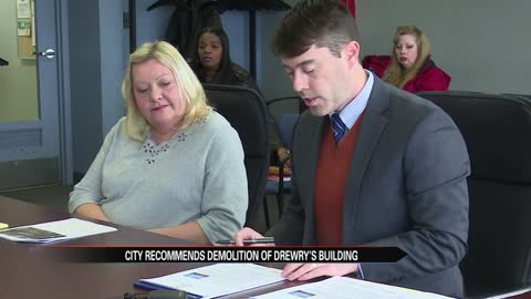 Code enforcement recommends city demolish Drewry's Brewery