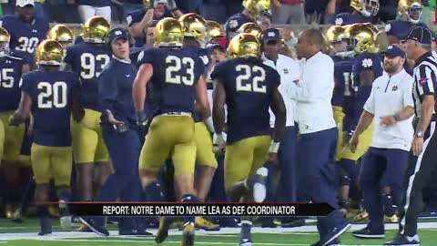 Clark Lea promoted to Notre Dame defensive coordinator