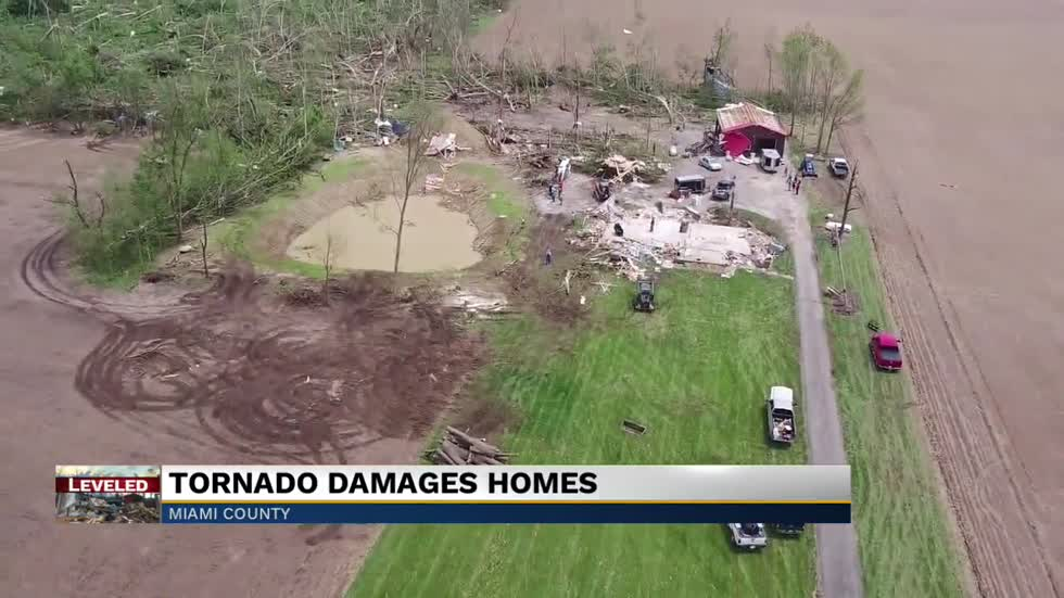 Clean up efforts underway after tornado strikes Miami County