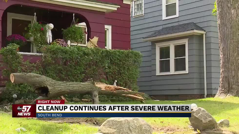 Cleanup continues after severe weather