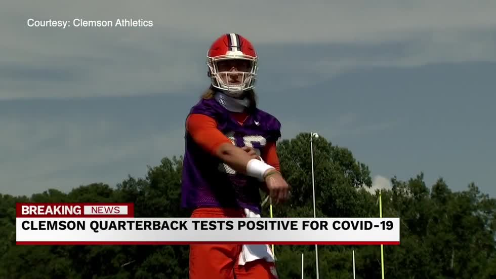 Clemson Quarterback tests positive for coronavirus
