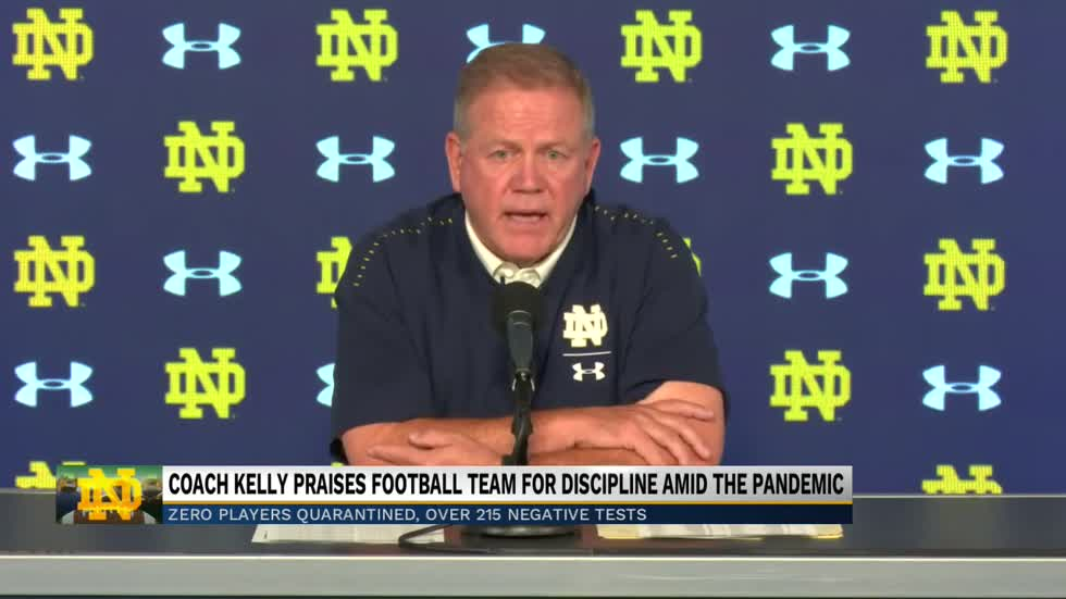 Coach Brian Kelly talks COVID-19 updates, playing in the ACC...