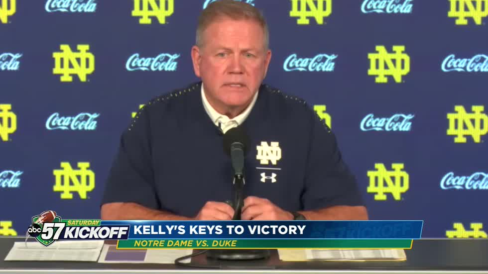 Coach Brian Kelly's keys to victory against Duke