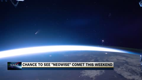 Comet NEOWISE will be visible to the naked eye early Saturday...