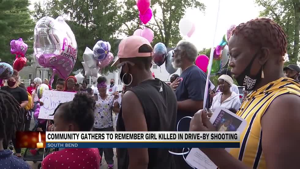 Community gathers to remember girl killed in drive-by shooting