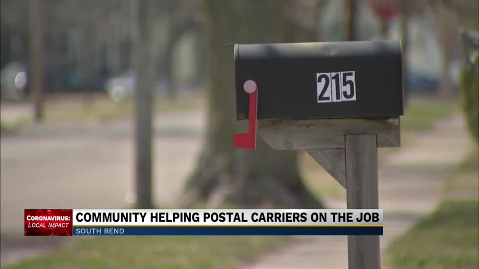 Community giving back to postal carriers during outbreak