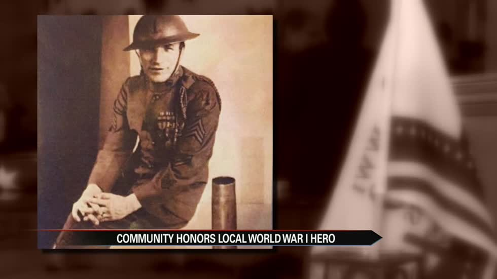 Local WWI vet honored one century after firing first US shot at Germany