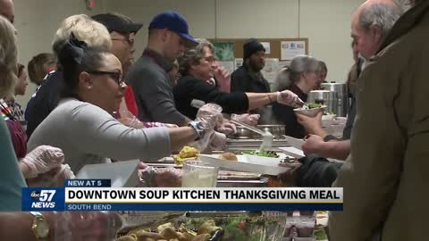 Community members come together for a special Thanksgiving holiday dinner