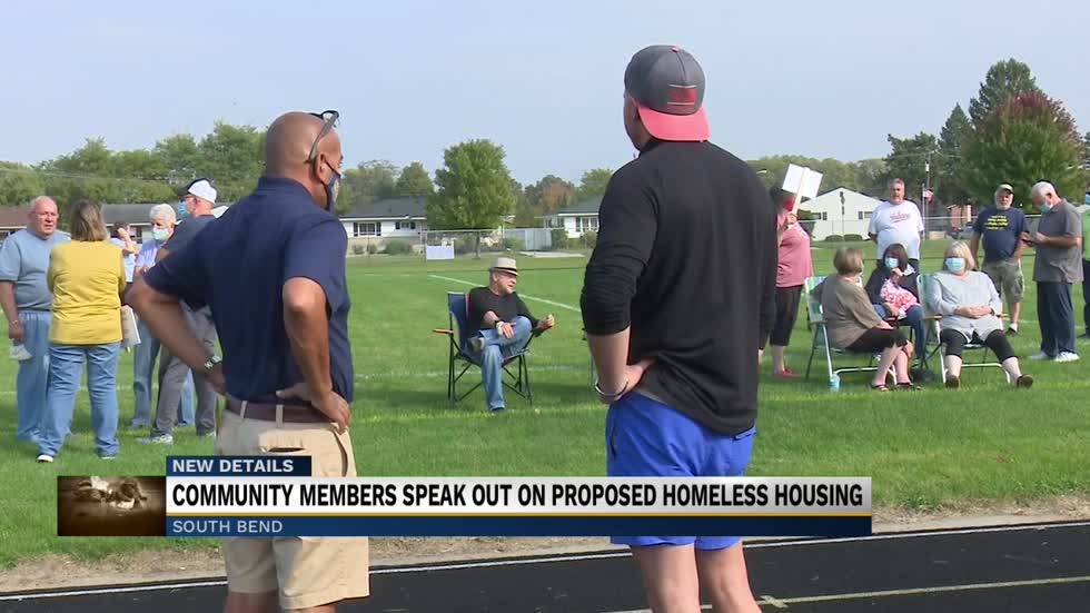 Community members speak out on proposed homeless housing