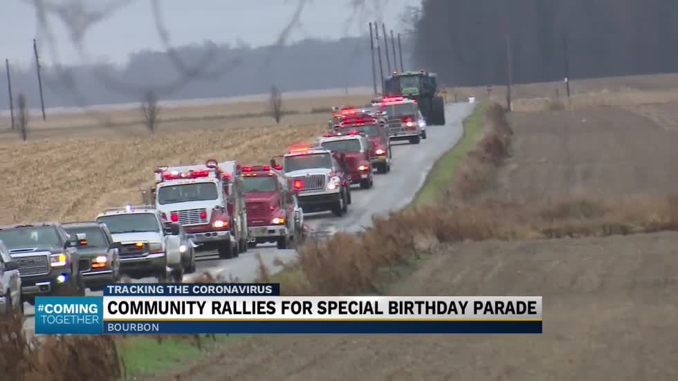 Community rallies for birthday parade for child of hospitalized...