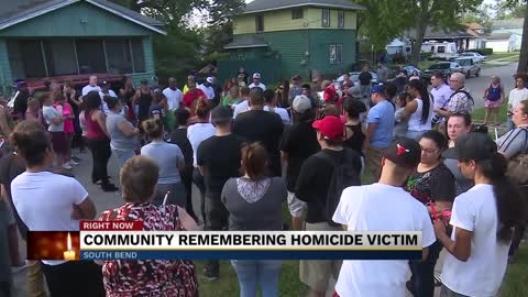 Vigil held for South Bend man stabbed to death on Sunday