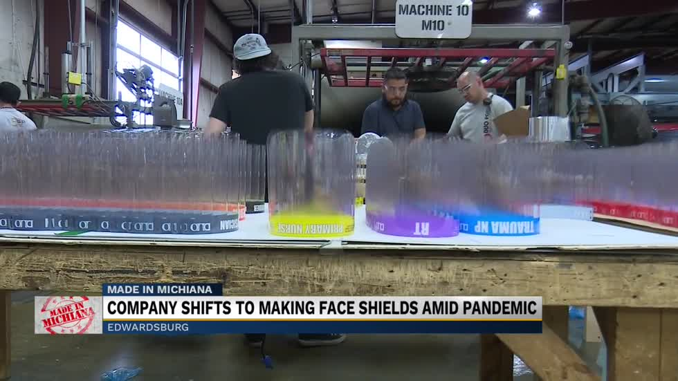 Made in Michiana: Company shifts to making face shields amid pandemic