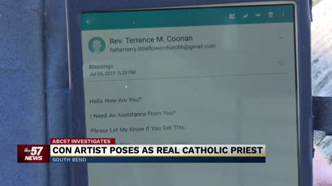 Con artist poses as real catholic priest
