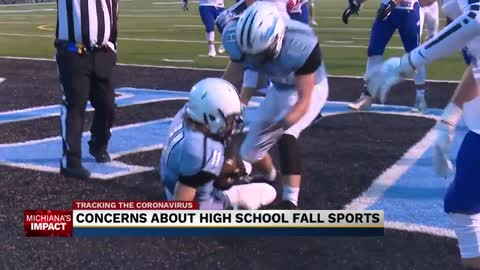 Concern that COVID-19 could impact fall high school sports