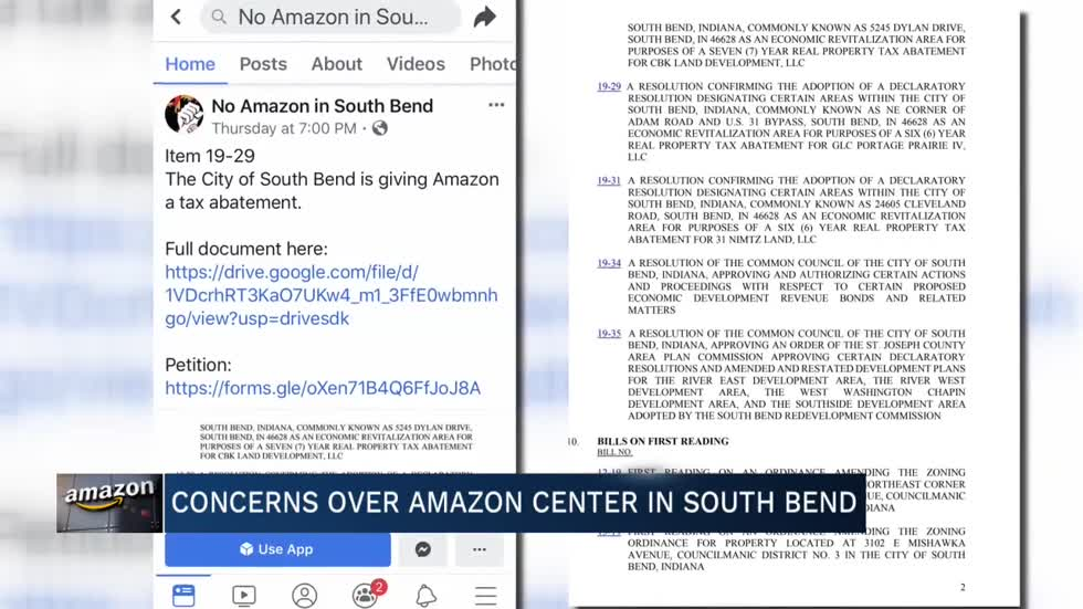 South Bend Common Council on Amazon: 'The council has no say in that'