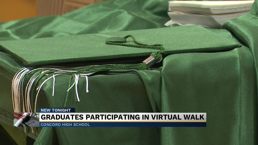 Concord High School holds senior walk for virtual graduation