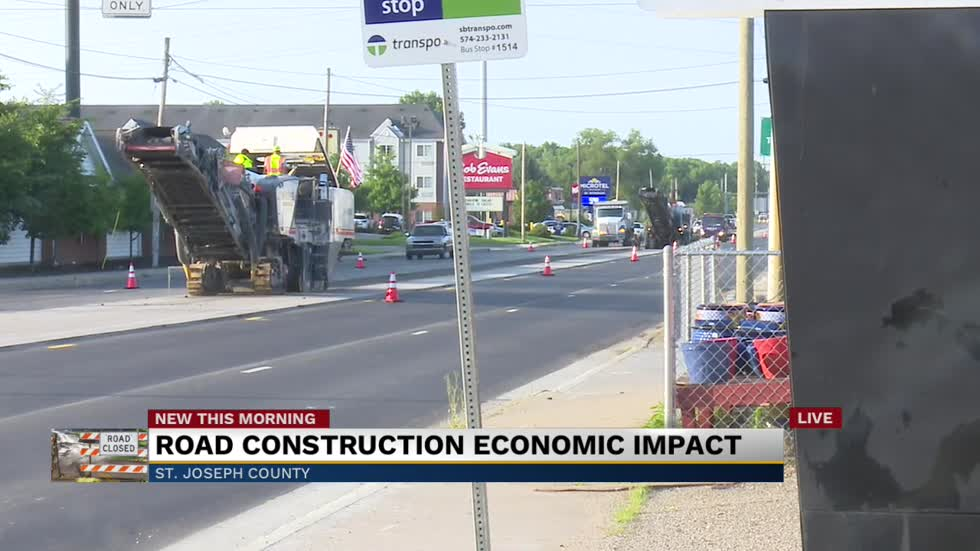 Indiana 933 construction slows down drivers, business