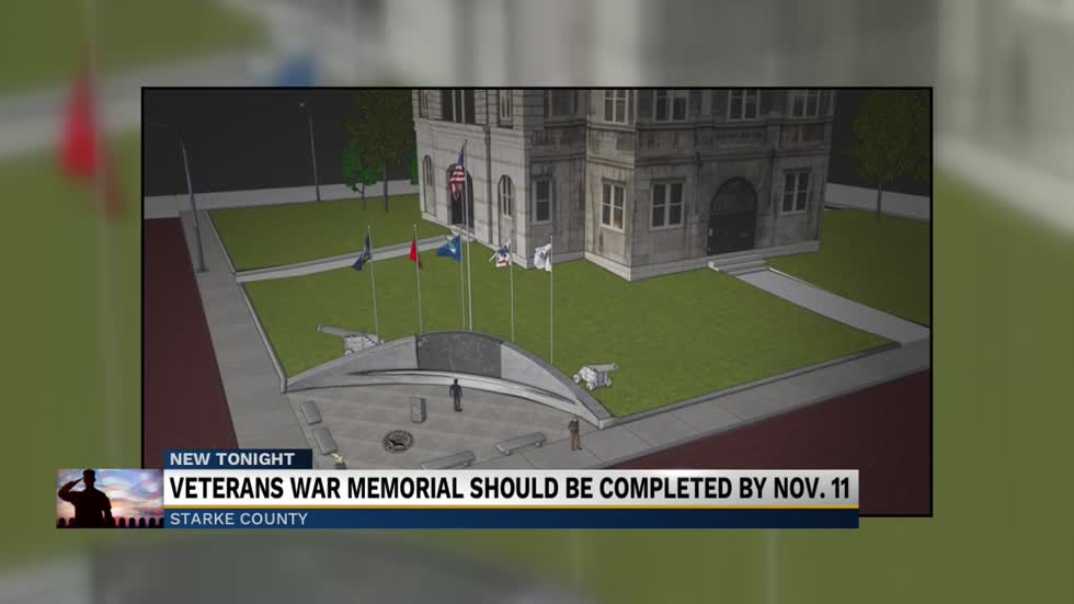 Construction on schedule for Veterans war memorial