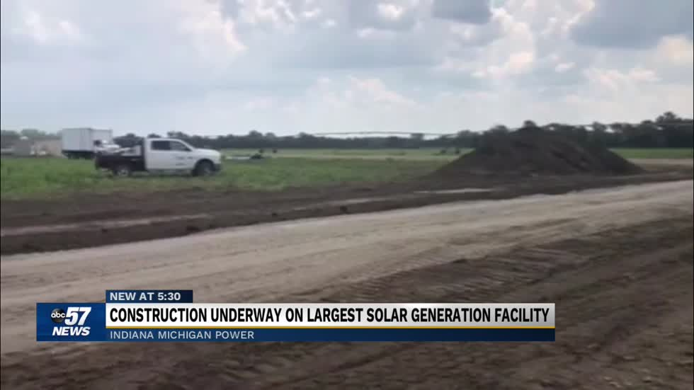 Construction underway on largest solar generation facility in Indiana