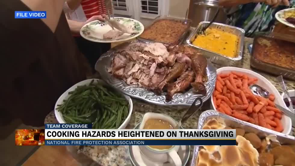 Residents three times more likely to have a cooking fire on Thanksgiving...