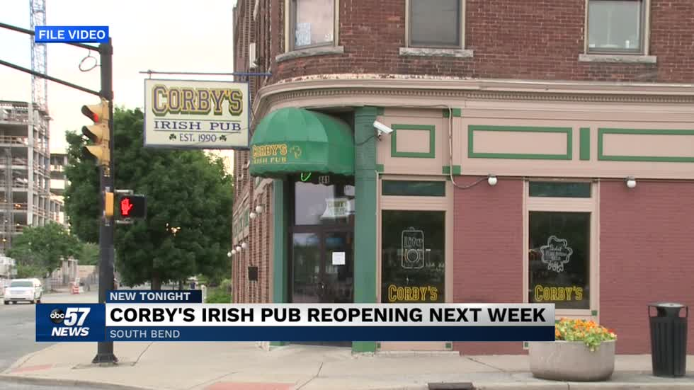 Corby's Irish Pub reopening next week in South Bend