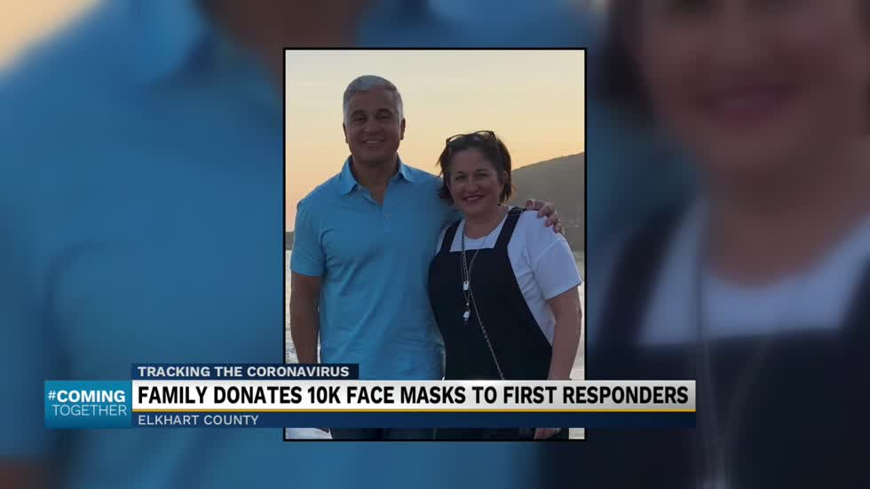 Couple donates 10,000 N-95 masks to hospital, first responders