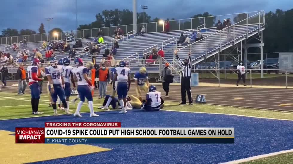 Covid spike could put high school football games on hold