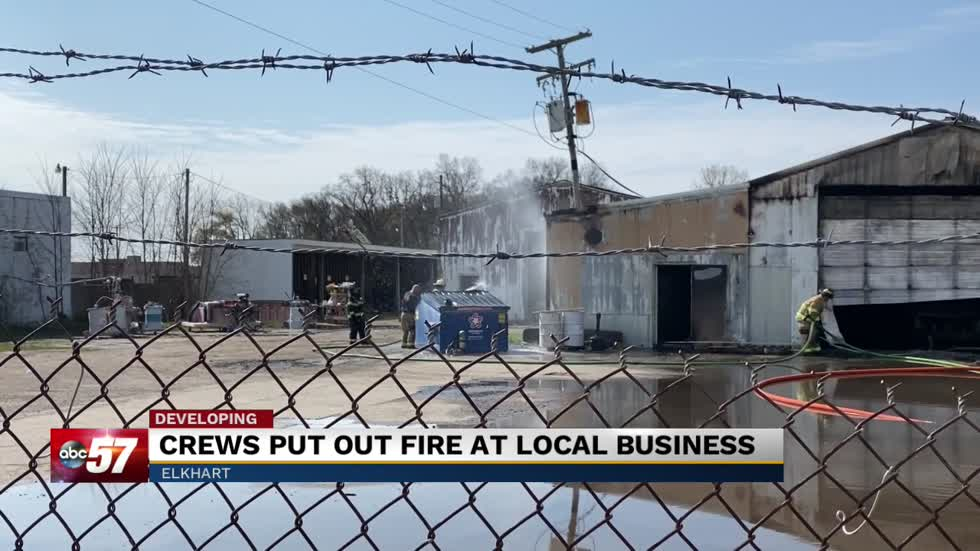 Crews put out fires at Elkhart business