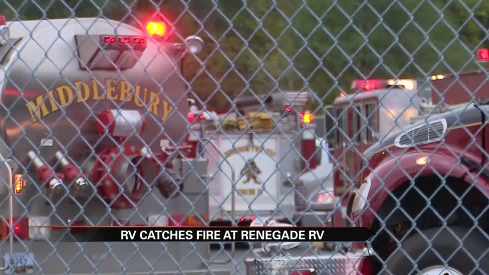 Crews respond to fire at Renegade RV