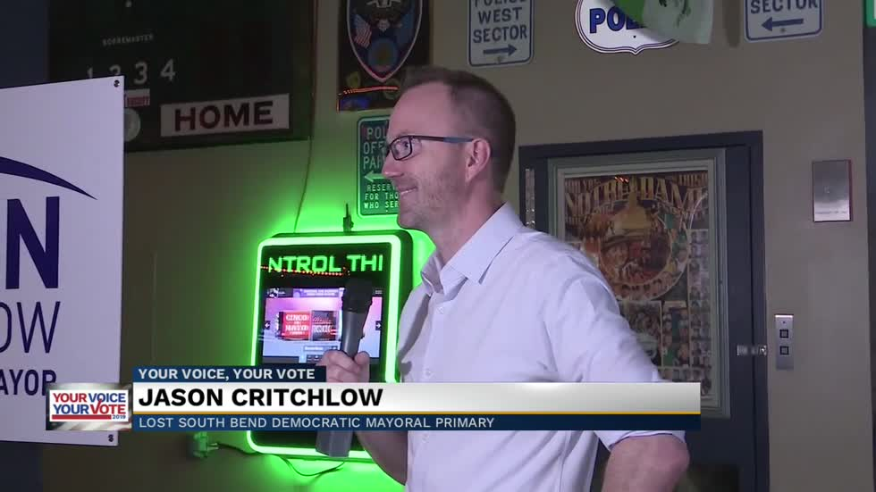 Jason Critchlow thanks supporters after election loss